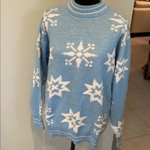 Vintage Snowflake Ugly Christmas Sweater ❄️